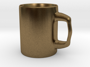 Designers Mug for Coffee or else in Natural Bronze
