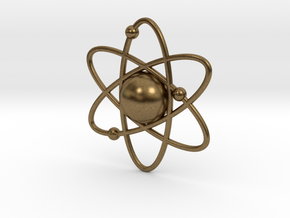 Atom Necklace Charm in Natural Bronze