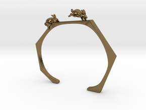 Chasing Rabbits Cuff Bracelet in Polished Bronze: Extra Small