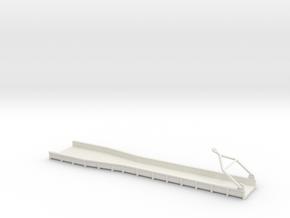 Ore Chute 8x40 O Scale 1 48 in White Natural Versatile Plastic