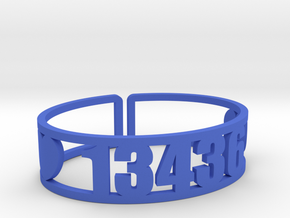 Raquette Lake Zip Cuff in Blue Processed Versatile Plastic