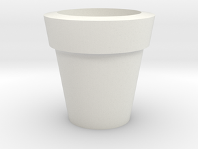 Design Plain Flower Pot in White Natural Versatile Plastic