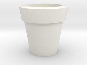 Design Plain Flower Pot in White Strong & Flexible