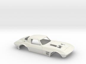 1/8 Corvette Grand Sport 1964 in White Natural Versatile Plastic