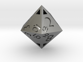Sphericon-based d12: hollow in Natural Silver