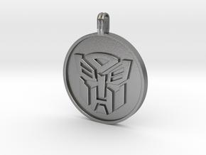 Transformer Pendant in Natural Silver