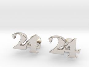 Monogram Cufflinks 24 in Platinum