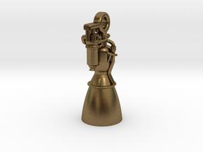 Rocket Engine Key Fob in Natural Bronze
