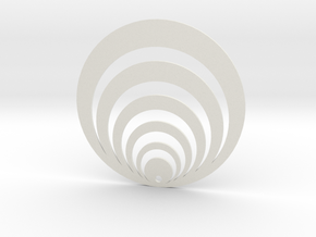 Oreille Illusion 3 in White Natural Versatile Plastic