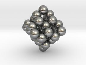 Nanodiamond Pendant C35 in Natural Silver