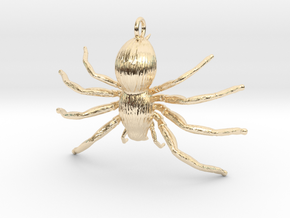 Spider Hecklace in 14k Gold Plated Brass