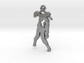 Spike The Zombie Pendant in Natural Silver