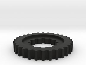 Crank Pulley 3.0-1 in Black Natural Versatile Plastic