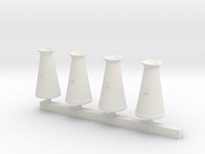 Milk Churns 4mm scale in White Natural Versatile Plastic