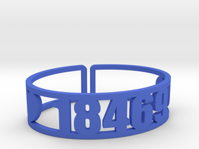 Tyler Hill Zip Cuff in Blue Processed Versatile Plastic
