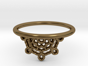 Half Lace Ring - Size 7.5 in Polished Bronze: 7.5 / 55.5