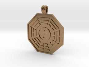 Bagua Symbol in Natural Brass