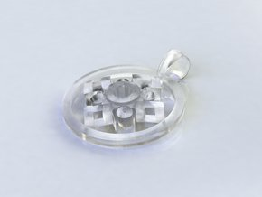 Pendant, Forces of Nature  in Smoothest Fine Detail Plastic