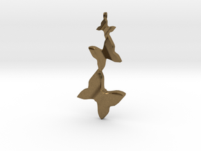 Butterfly Flight Pendant in Natural Bronze