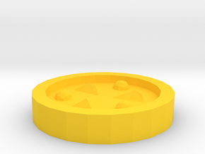 The Light Medallion in Yellow Processed Versatile Plastic