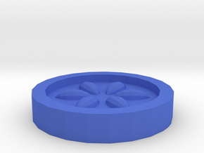 The Water Medallion in Blue Processed Versatile Plastic