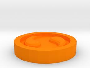 The Spirit Medallion  in Orange Processed Versatile Plastic