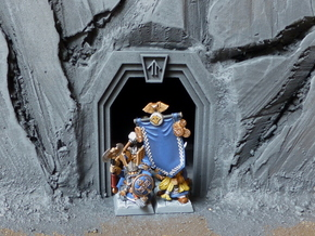 Dwarf Mine Door in White Natural Versatile Plastic