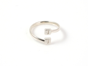 Initial Wraparound Ring -Custom - Oval Band in Polished Silver