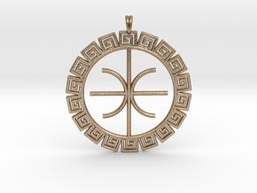 Delphic Apollo E Ancient Greek Jewelry Symbol 3D  in Polished Gold Steel