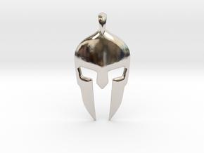 Spartan Helmet Jewelry Pendant in Platinum