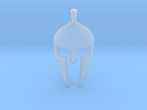 Spartan Helmet Jewelry Pendant in Smooth Fine Detail Plastic