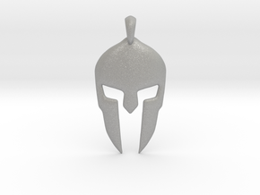 Spartan Helmet Jewelry Pendant in Aluminum