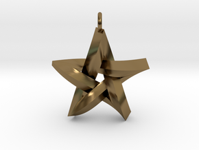 Impossible Star Pendant in Polished Bronze