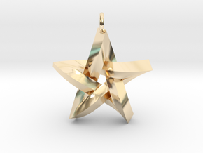Impossible Star Pendant in 14k Gold Plated Brass