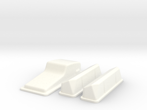 1/12 Ford 427 Side Oiler Stock Pan And Cover Kit in White Processed Versatile Plastic