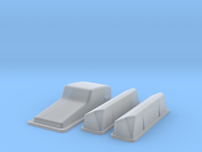 1/24 Ford 427 Side Oiler Stock Pan And Cover Kit in Smooth Fine Detail Plastic