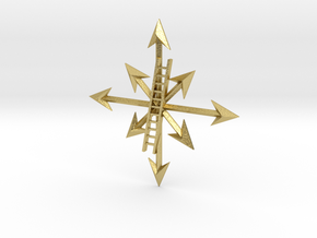 I.A.M.A.D.A. Badge in Natural Brass