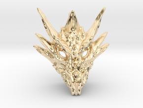 Umbral Dragon Pendant in 14K Yellow Gold
