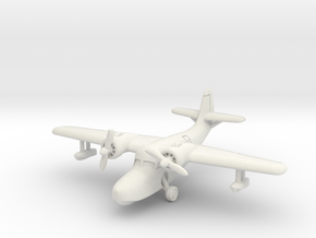 Grumman JRF-5 Goose (with landing gear) 1/285 6mm in White Natural Versatile Plastic
