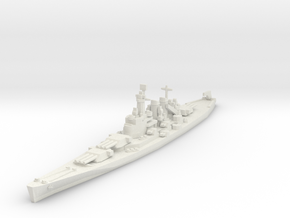 North Carolina class battleship 1/1800 in White Natural Versatile Plastic