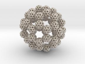 Fractal Fullerene Pendant in Platinum
