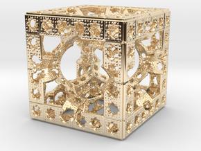 Hyper Solomon cube in 14K Yellow Gold