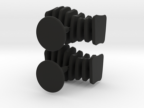 Cufflinks Free Form in Black Natural Versatile Plastic
