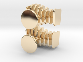 Cufflinks Free Form in 14K Yellow Gold