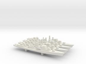 Daring-Class Destroyer x 4, 1/2400 in White Natural Versatile Plastic