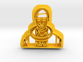 Mae Jemison Cookie Cutter in Yellow Strong & Flexible Polished