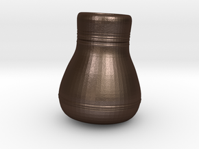 3.5 inch Rough Vase in Matte Bronze Steel