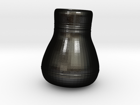 3.5 inch Rough Vase in Matte Black Steel