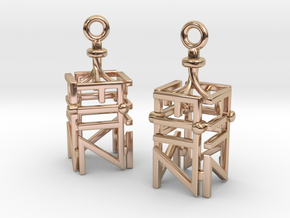 FITZ Earrings in 14k Rose Gold Plated