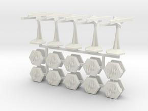 MicroFleet Late-War Toaster Fleet in White Natural Versatile Plastic